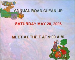 Annual Road Clean-Up This Saturday